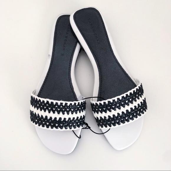 NWT Zara woven strap slide sandals size 5